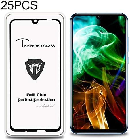 Color : Black ALICEWU WJH 25 PCS Full Screen Full Glue Anti-Fingerprint Tempered Glass Film for Huawei Honor 10i Black