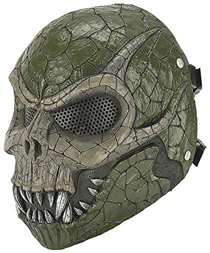 Evike - R-Custom Basilisk Fiberglass Mask w/ Wire Mesh (Color: Olive Brown) - (65968) by Evike