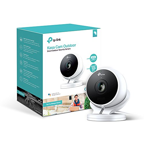 Kasa Cam Outdoor by TP-Link - 1080p HD, 2-Days Free Cloud Storage, Built-in Siren, Stream Anywhere, Works with Alexa Echo and Google Assistant (KC200) ()