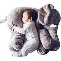 LOTEC Super Soft Cute Big Stuffed Elephant Plush Pillow Doll Toys, Baby Elephants Toys (Grey)