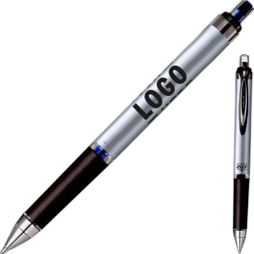 100 Personalized Uni-ball 207 Gel Impact Retractable Pen Printed With Your Logo Or Message