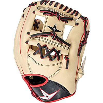 Image of All-Star Pro-Elite 11.5 Inch FGAS-1150I Baseball Glove - Cream/Black/Scarlet Outfielder's Mitts