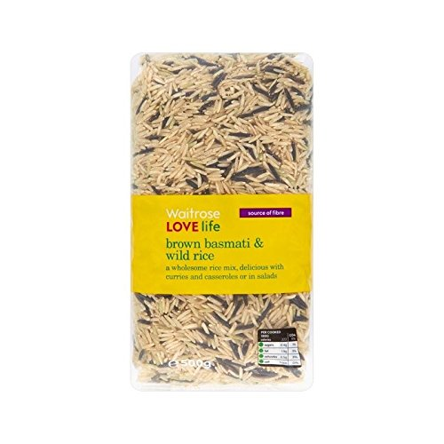 Wholesome Brown Basmati & Wild Rice Waitrose Love Life 500g - Pack of 6 by WAITROSE