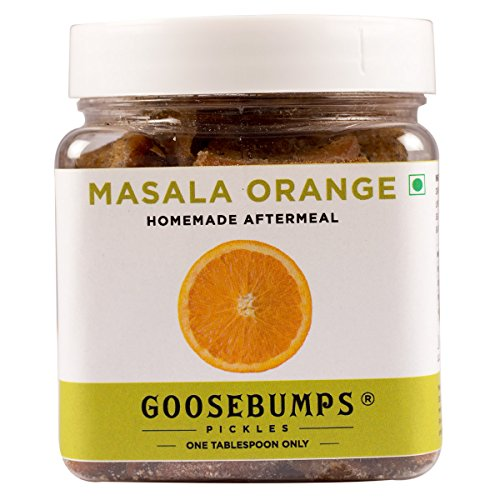 Orange Pickles (Goosebumps Pickles Homemade Masala Aftermeal, Orange, 250g)