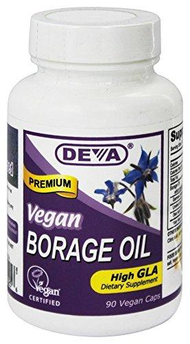 Deva Vegan Vitamins Borage Oil 500Mg Vegan 90 Vcap Deva Vegan Borage Oil