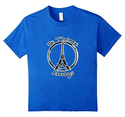 Je T'aime Always Paris - Kids 4 - Royal Blue
