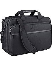 """KROSER 18"""" Laptop Bag Premium Laptop Messenger Bag Fits Up to 17.3 Inch Laptop Shoulder Bag Expandable Water-Repellent Computer Bag with RFID Pockets for Travel/Business/School/Men/Women-Black"""