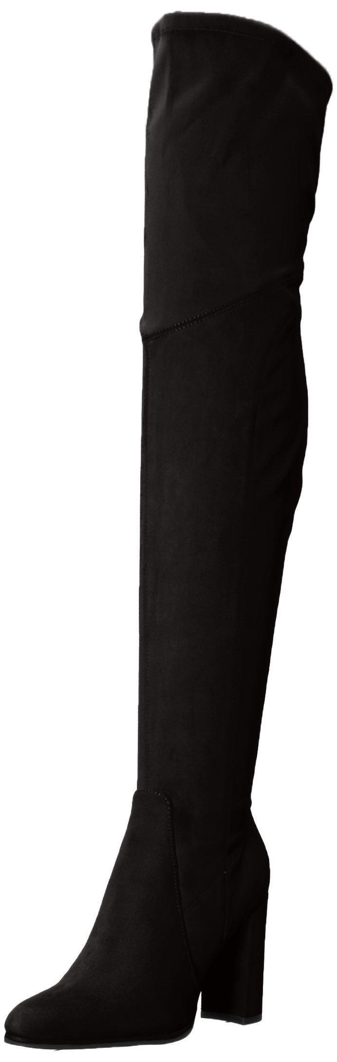 Marc Fisher Women's Nella Over The Knee Boot, Black, 7.5 Medium US