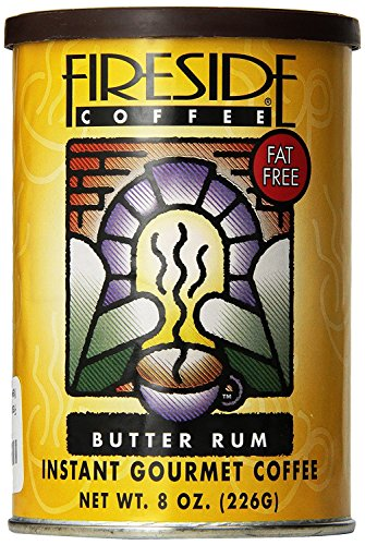 Fireside Coffee Cafe Mocha Instant Flavored Coffee 8 Ounce Canister - Hot Butter Rum