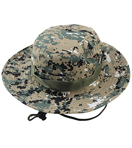 iToolai Unisex Cotton Camouflage Hunting Boonie Fishing Hats (ACU Camo)