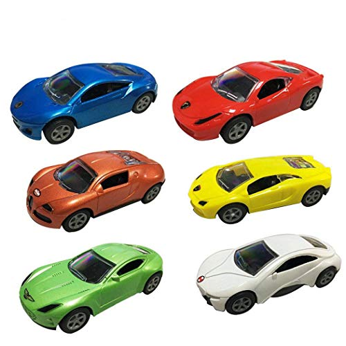 6 Pcs (1 Set ) Cartoon Cars, Pull Back Racer Cars Mini Cartoon Hands Pushing Vehicles for Toddlers, Preschool Learning for Children Toddlers Kids (Roll Back Car)