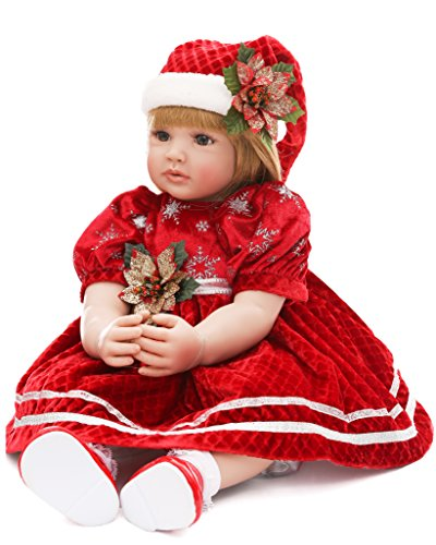 LaDORA 23'' Soft Body Lifelike Adorable Doll with Moveable Arms Legs for 6+ Children Dolly Toy AMC17019