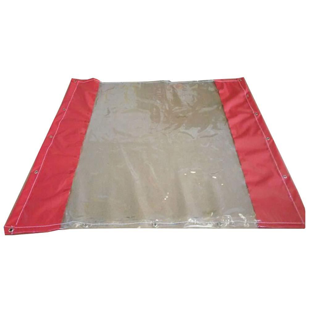 JINSH Außenzelt Transparente Wasserdichte Plane Plane Zelt gemeinsame Wasserdichte Tuch reißfest Zelt (Farbe   A, Größe   1.3×2m)