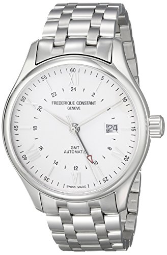 Frederique Constant Men's FC350S5B6B Classics Analog Display Swiss Automatic Silver Watch