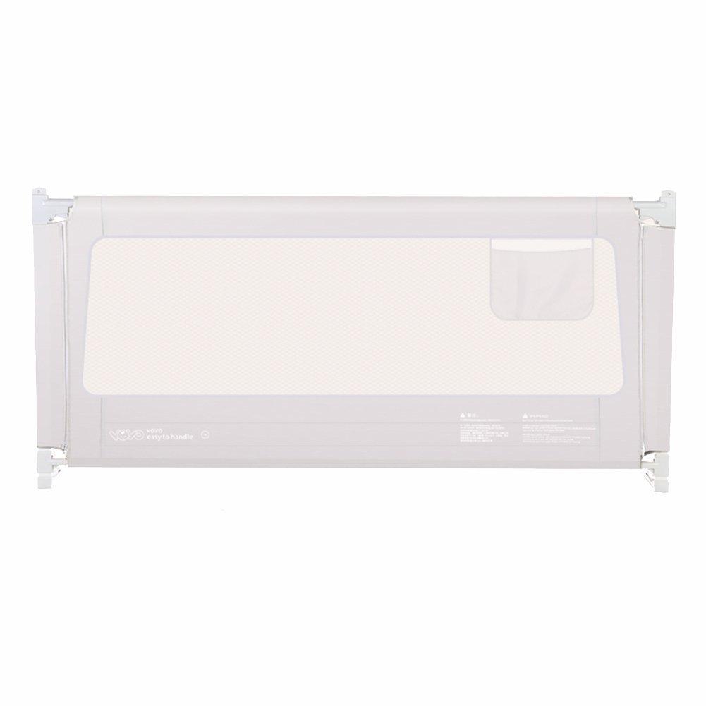 ポータブルかつ安定したベッドガードベビーイージーフィット安全レール幼児/子供/子供、大150-200センチメートル、80センチメートル高さ、グレー (サイズ さいず : 2.0M) 2.0M  B013AK3XA0