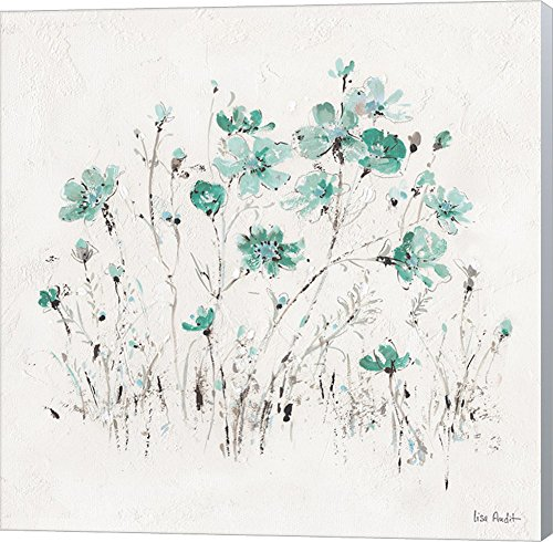 Wildflowers II Turquoise by Lisa Audit Canvas Art Wall Picture