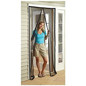 Castlecreek magnetic mesh door screen for Magnetic mesh screen for french doors