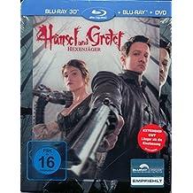 Hansel & Gretel: Witchhunters 3D Steelbook Blu-Ray - Limited Lenticular Steelbook Edition (Blu-ray 3D + Blu-ray + DVD) Blu-ray, Regionfree, Uncut, Very Rare