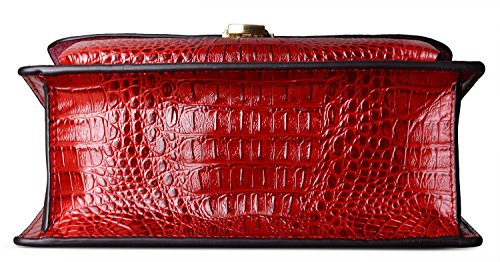 Red Crossbody Handle Handbag PIFUREN Top Fashion Women Leather Purses qPwwxB8p4