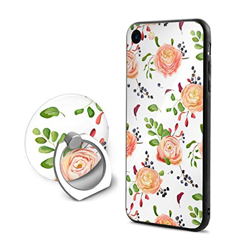 - iPhone 8 Case,Shock-Absorption IPhone7/8 Phone Case Pink Rose Grape Bunch Shockproof Series Protective Case for iPhone 7/8 with Rotating Stand