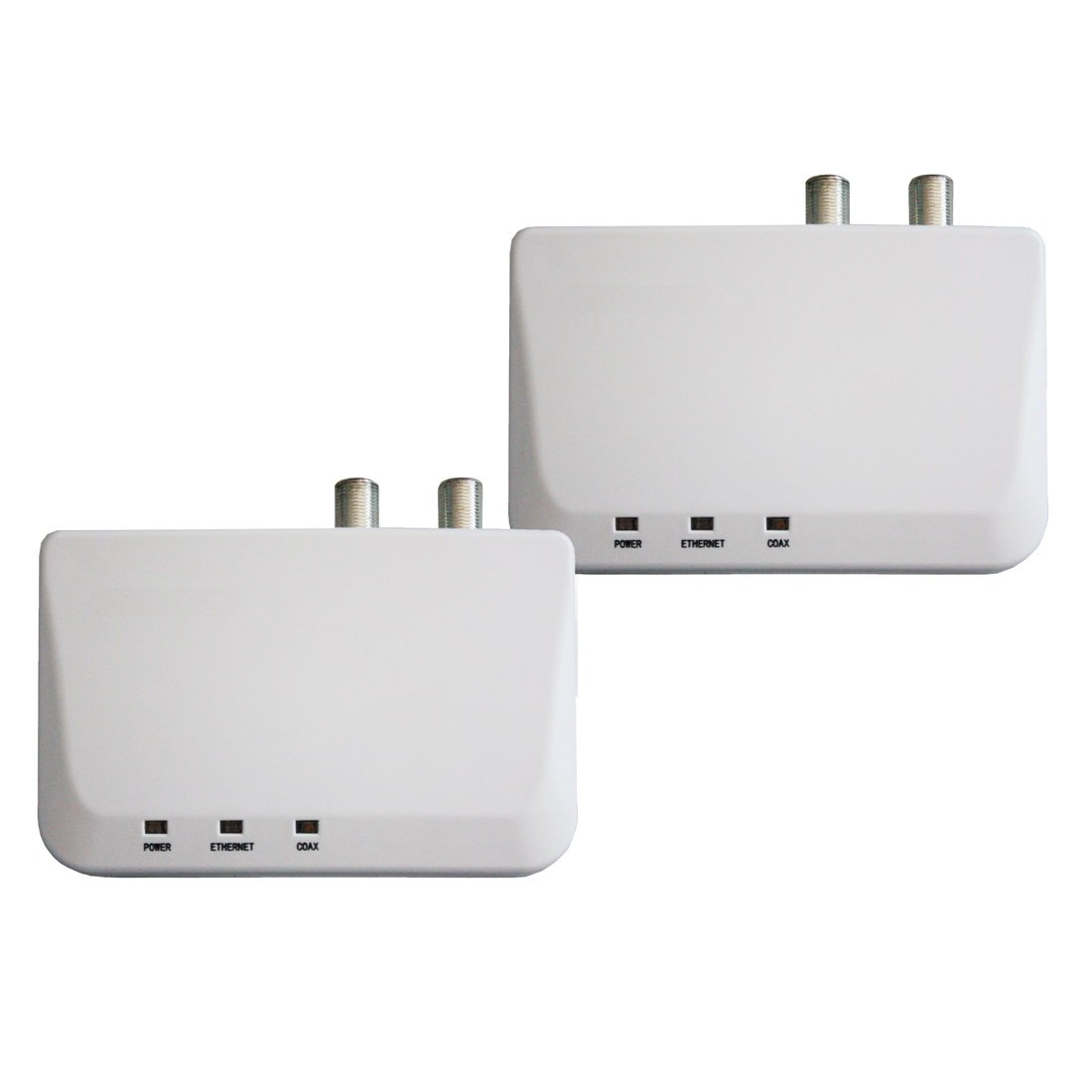 Kiwee Broadband Bonded MoCA 2.0 Ethernet de alta velocidad (IP) a través de cable coaxial, Ethernet over Coax Adapter, 2 Pack (YTMC-51N1-M2): Amazon.es: ...