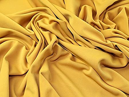 ffcb9117bad Image Unavailable. Image not available for. Colour: Plain Marcello Stretch  Polyester Jersey Knit Dress Fabric Mustard ...