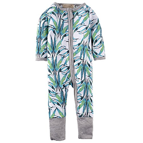 Big Elephant Baby Boys'1 Piece Long Sleeve Sleepwear Zipper Closure Romper