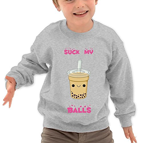 Price comparison product image Puppylol Suck My Balls Kids Classic Crew-neck Pullover Hoodie Ash 2 Toddler