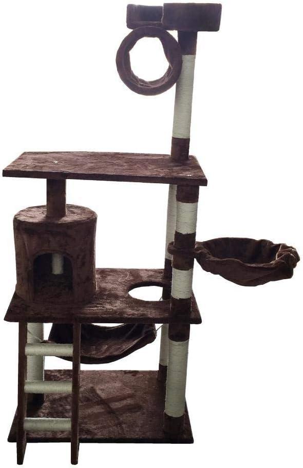 Axiba Árbol para Gatos Gancho agarrador del Animal doméstico Gato Juguete Muebles Cama del Nido Junta Villa Gato casa Escalera 66 * 48 * 157 cm Placa/cáñamo Cuerda/Franela: Amazon.es: Productos para mascotas