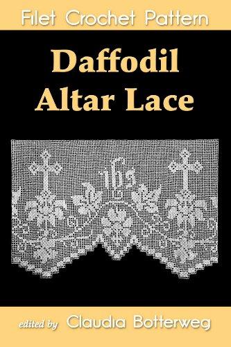 (Daffodil Altar Lace Filet Crochet Pattern)