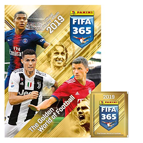 Multiset 4 sobres. Fifa 365: Panini 2019 (1 álbum + 20 estampas) Fifa 365: Panini 2019