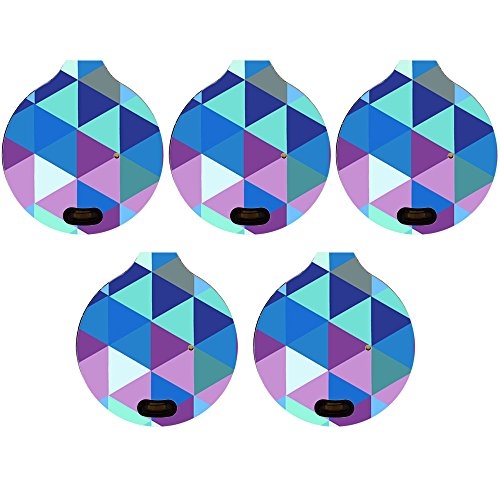 Pinpoint Vinyl Top (Skin for TrackR Bravo (Gen 2.5) (Pack of 5 skins) - Purple Kaleidoscope| MightySkins Protective, Durable, and Unique Vinyl Decal wrap cover | Easy To Apply, Remove, and Change Styles | Made in the USA)