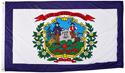 Online Stores West Virginia Superknit Polyester Flag, 3 by 5