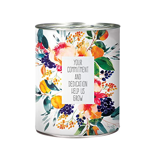 Flower in A Can Office Plant - Poppy Seeds, Organic Soil, Pot, and Planting Instructions - White Wrapping with Multi-Color Poppies