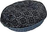 BESSIE AND BARNIE 42-Inch Bagel Bed for Pets, Large, Blue Sky/Versailles Blue