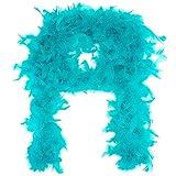 Midwest Design Turkey Feather Chandelle Boa, 2 yd, Bermuda Blue