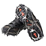 AUHIKE 18 Teeth Anti-Slip Ice & Snow Cleat Traction Cleats Grippers Crampons