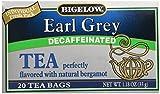 Bigelow Tea Earl Grey Tea Black Tea Decaffeinated, 20 ct