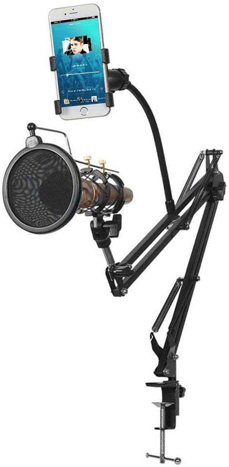 AOLVO Soporte para micrófono, Soporte Ajustable de 360° para ...