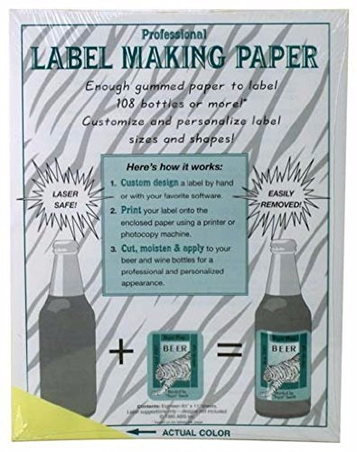 Label Making Paper, Canary Yellow by Midwest Homebrewing and Winemaking Supplies by Midwest Homebrewing and Winemaking Supplies