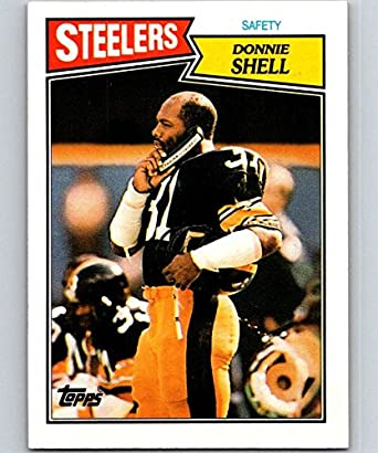 9eb03fc8da8 Amazon.com  1987 Topps  293 Donnie Shell Steelers NFL Football ...