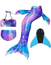 Wishliker zeemeerminnen voor meisjes en meisjes, voor zwemmen met zeemeerminvin, prinses badkleding bikini cosplay kostuum
