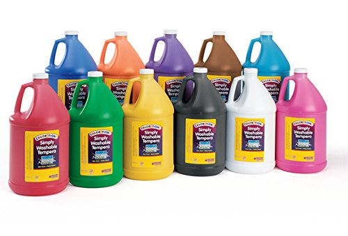 Colorations GWSTBK Colorations Simply Washable Tempera Paint, Black