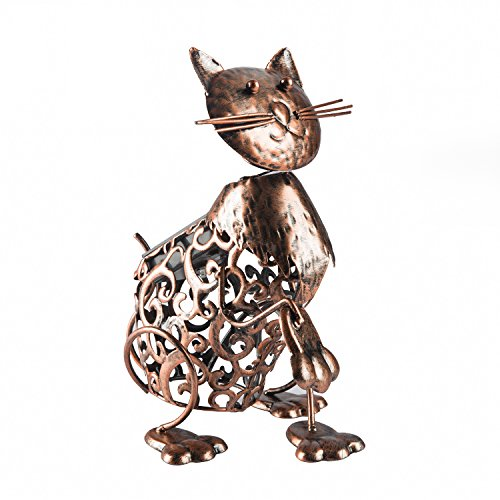 Metal Cat Solar Light
