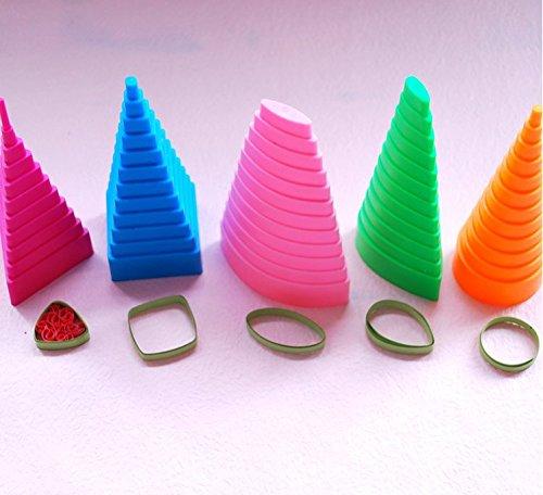 Primi 5PCS strumenti di colore misto DIY Paper quilling Border Buddy kit