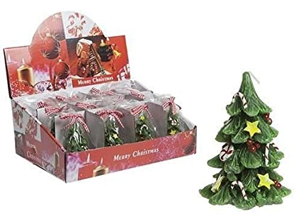 2 x small xmas christamas tree shape canlde home decoration gift stocking filler - Christmas Tree Filler Decorations