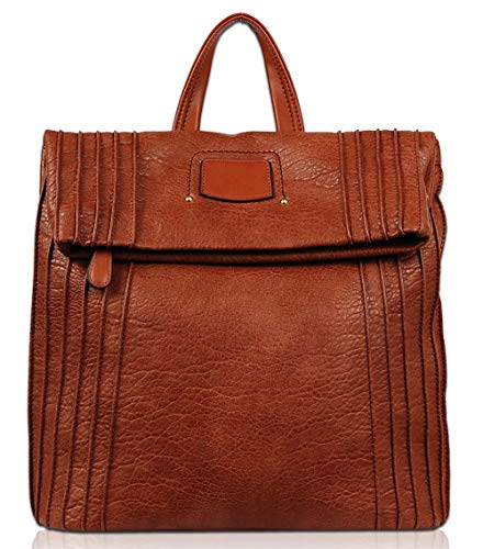 A-frame Style Handbag - Vieta Aliza Fashion Backpack VT3014 (Cognac)