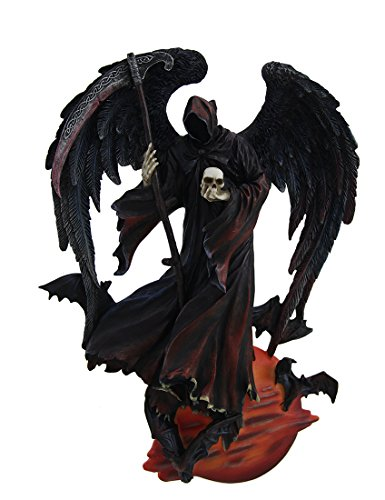 Resin Wall Sculptures Reaper Of The Night Highly Detailed Angel Of Death Wall Sculpture 7 X 9.75 X 1.75 Inches (Reaper Sculpture)