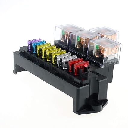 amazon com miaomiaogo plastic 1a 40a 10 way circuit car fuse box Knob and Tube Wiring
