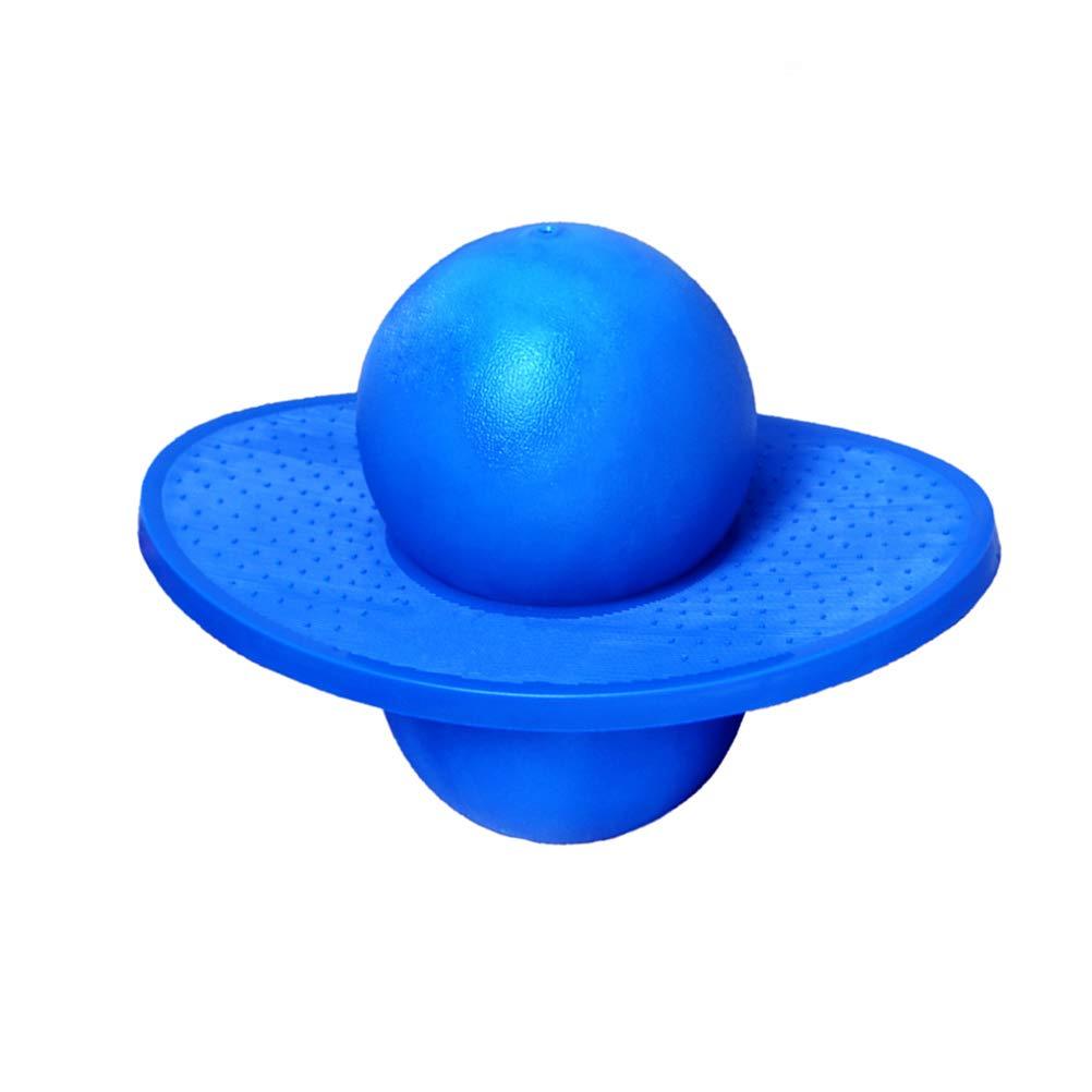 LIOOBO ポゴボール 楽しいホッパースポーツ 高バランスバウンス ジャンプボードボール 子供用 ブルー B07QS7FGL7